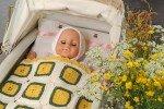 Barnfilt Blomrutor
